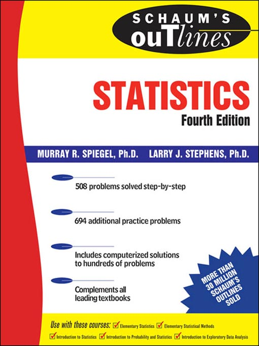 Title details for Statistics by Murray Spiegel - Wait list
