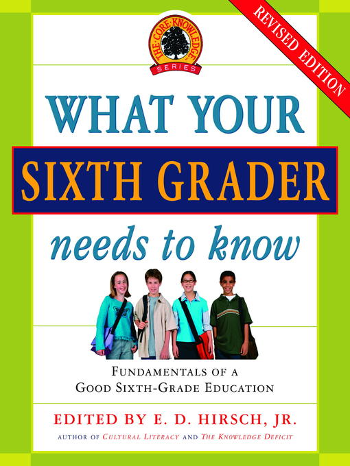 Title details for What Your Sixth Grader Needs to Know by E.D. Hirsch, Jr. - Available