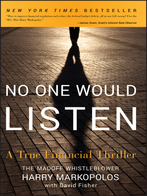 Title details for No One Would Listen by Harry Markopolos - Available