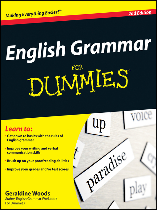 Title details for English Grammar For Dummies by Geraldine Woods - Available