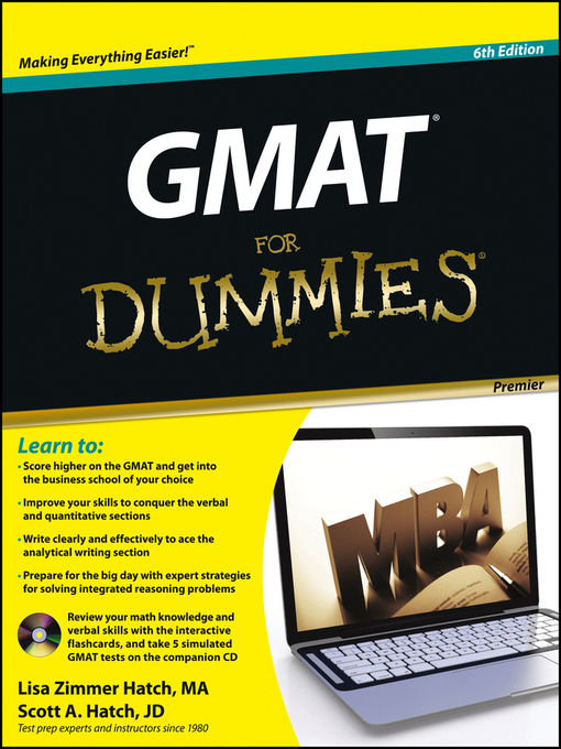 Title details for GMAT For Dummies by Lisa Zimmer Hatch - Available