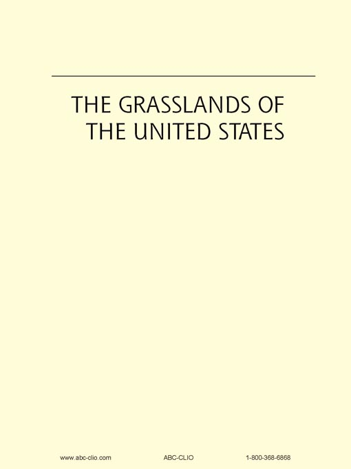 Title details for The Grasslands of the United States by James Sherow - Available