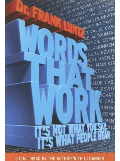 Title details for Words That Work by Dr. Frank Luntz - Wait list