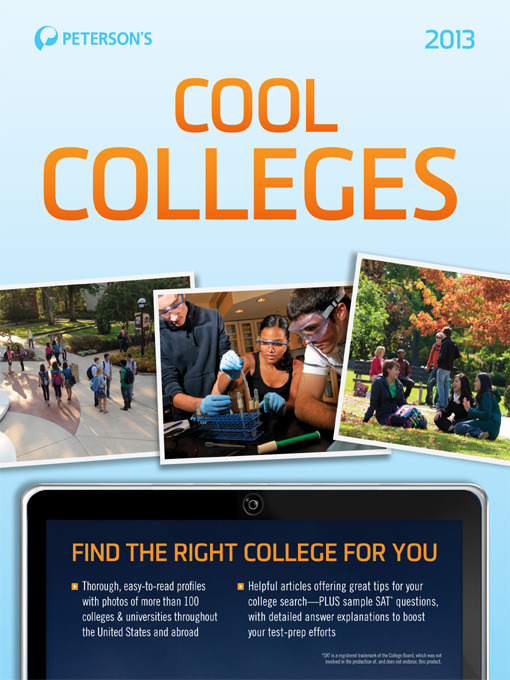 Title details for Cool Colleges 2013 by Peterson's - Available