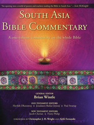 South Asia Bible Commentary by Brian Wintle.                                              AVAILABLE eBook.