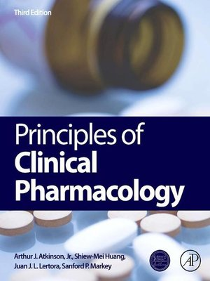 Principles of Clinical Pharmacology by Arthur J. Atkinson, Jr..                                              AVAILABLE eBook.